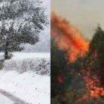 در میانهی«آتش» و «بارش»