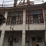 عملیات رفع خطر و مرمت ساختمان تاریخی «مریضخانهی بلدیهی رشت» آغاز شد